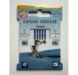 комплект игли за дънки ORGAN 705H JEANS