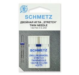 двойна игла 705Н-S ZWI 4 мм. 75 stretch