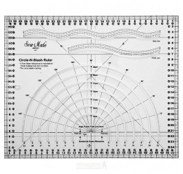 Комбиниран линеал за пачуърк Sew Mate MCS23